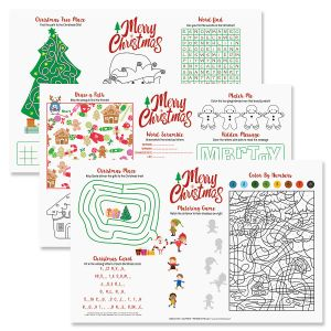 christmas activity paper place mats