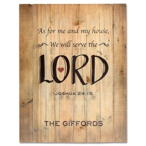 Serve the Lord Personalized Plaque