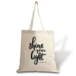 Shine Your Light Natural Canvas Tote