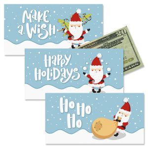 Santa and Snowman Holiday Cash Cards