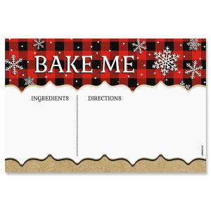 Buffalo Plaid Christmas Recipe Cards