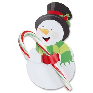 Diecut Snowman Candy Cane Holders