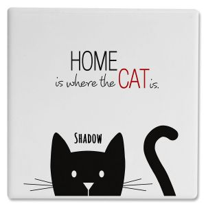 Personalized 1 Cat Coasters