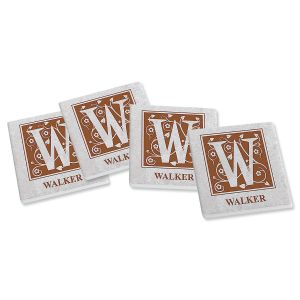 Established Personalized Ceramic Coasters