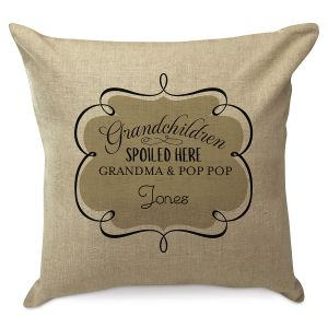 Personalized Spoiled Grandchildren Pillow