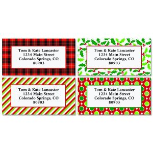 Christmas Border Address Labels - BOGO