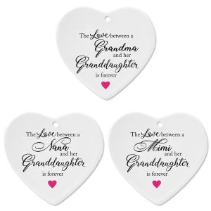 Granddaughter Heart Christmas Ornament
