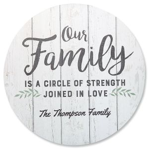 Personalized Family Circle Sign