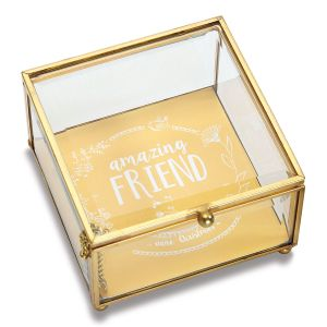 Personalized Friend Glass Trinket Box