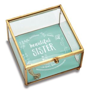 Personalized Sister Glass Trinket Box