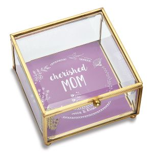 Personalized Mom Glass Trinket Box
