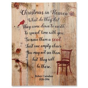 Christmas in Heaven Personalized Plaque
