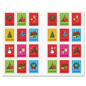 2018 Christmas Stamp Stickers
