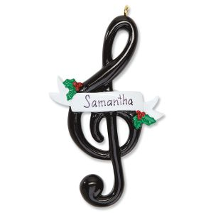 Personalized Treble Clef Ornament