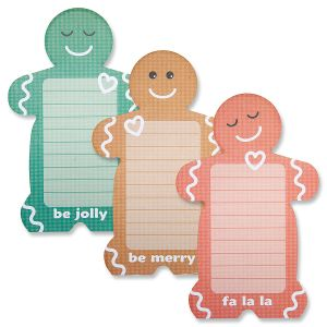 Gingerbread Men Lined Notepads - BOGO
