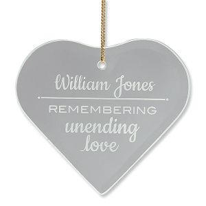 Personalized Unending Love Glass Ornament