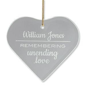 Personalized Unending Love Glass Ornament