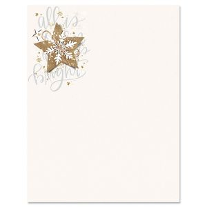 Christmas Star Christmas Letter Papers