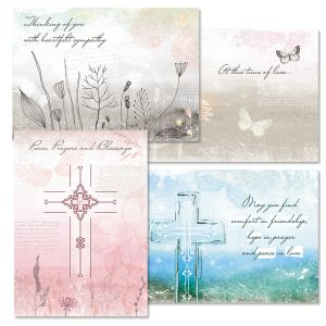 Peace & Blessings Sympathy Cards and Seals