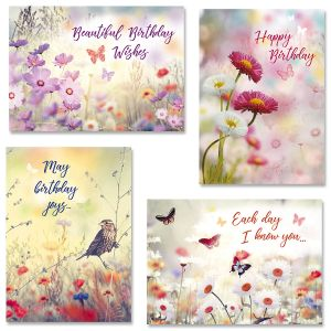 Floral Birthday Cards and Seals