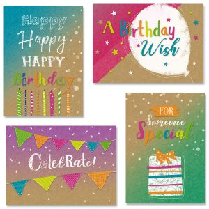 Kraft Birthday Cards and Seals