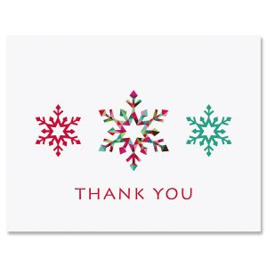 Snowflakes Thank You Note Cards