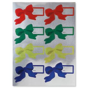 Foil Bow Tag Stickers - BOGO