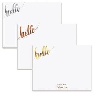 Hello Metallic Personalized Memo Pads