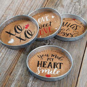 Valentine Cork Coasters