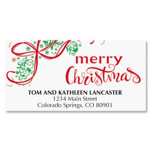 Christmas Wreath Deluxe Address Labels