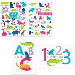 Animal Alphabet Baby Cards and Seals