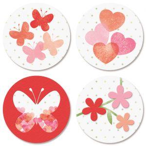 Sweet & Simple Valentine Seals (4 Designs)