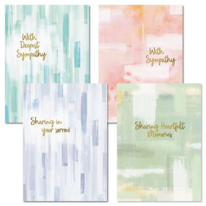 Brush Strokes Sympathy Cards and Seals