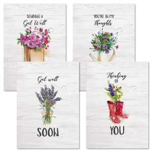 Bouquets Get Well Cards and Seals