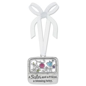 Sister and Friend Enameled Ornament