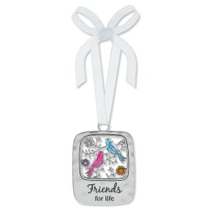 Friends for Life Enameled Ornament
