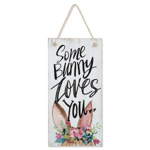 Some Bunny Loves You Wooden Plaque