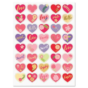 Kraft Hearts Stickers - BOGO