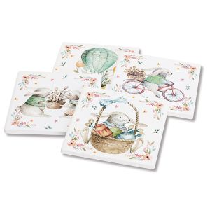 Bunny Blossom Coasters