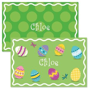 Easter Eggs Personalized Easter Placemat