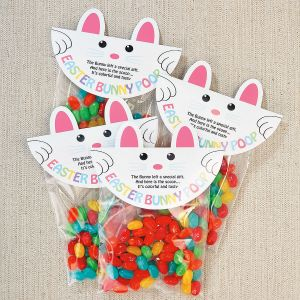 Bunny Poop Treat Bag Toppers
