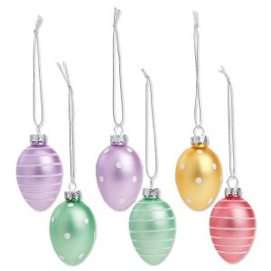 Pastel Easter Egg Ornaments