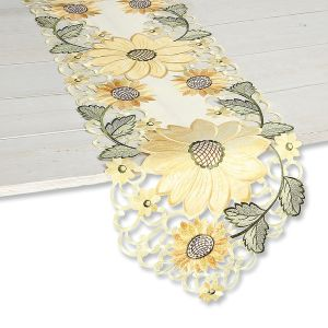 Sunflower Cutwork Table Runner