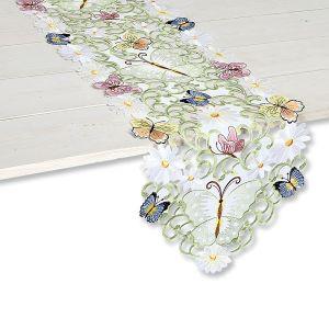 Butterfly Daisy Cutwork Table Runner