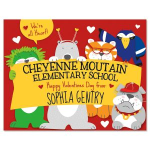 Personalized School Banner Valentines