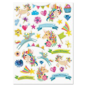 Unicorn Birthday Stickers