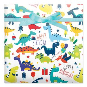 Dinosaurs Jumbo Rolled Gift Wrap