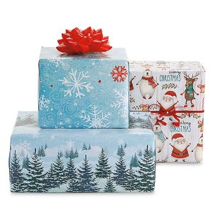 Holiday Flat Gift Wrap Value Pack