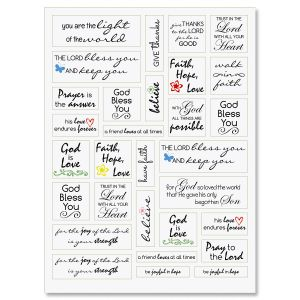 Faith Word Stickers