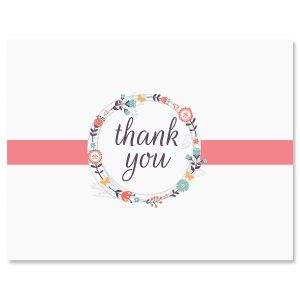 Wreath Thank You Note Cards